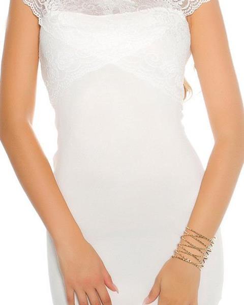 Dámske KouCla pletené mini šaty s čipkou značky KOUCLA 9706189cd5