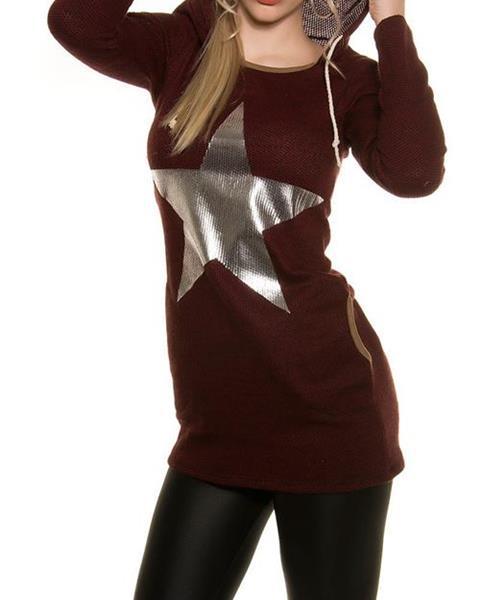 Dámsky sveter s hviezdou značky KOUCLA 16052f0857a