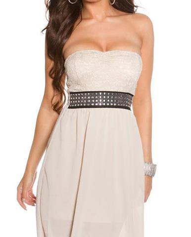 66c2cb0657c Dámske letné šaty s ozdobným pásom